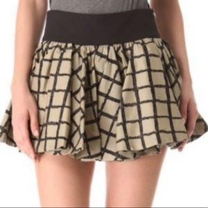 Rag & Bone Black & Tan Daisy check Skirt